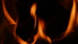 Flames, blazes.