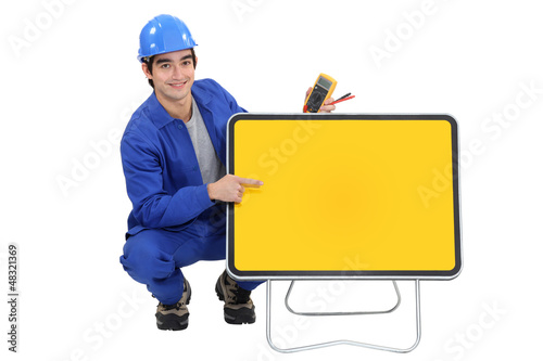 An electrician