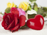 Herz und Rosen