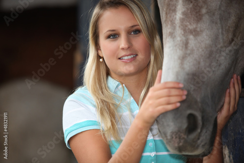 patting my horse