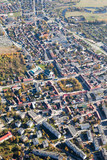 aerial view of Pinczow town in Poland