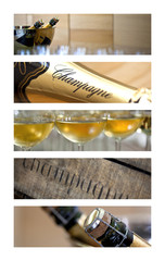 Champagne, vin, alcool, bouteille, œnologie, verre