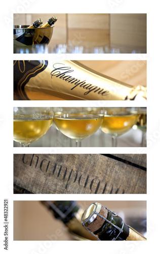 Papiers peints Bar Champagne, vin, alcool, bouteille, œnologie, verre