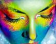 canvas print picture - mystical portrait