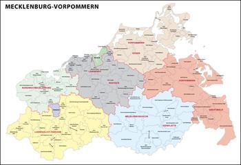 Mecklenburg-Vorpommern Landkreise
