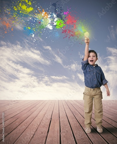 Idea of a happy child