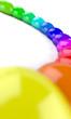 3D Regenbogen Halbkreis aus Farbtropfen 4