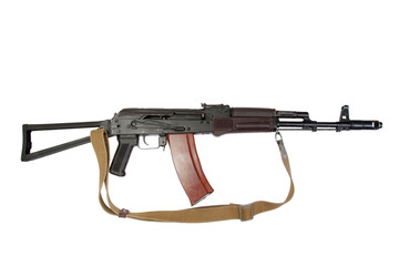 kalashnikov aks-74 para isolated on a white background