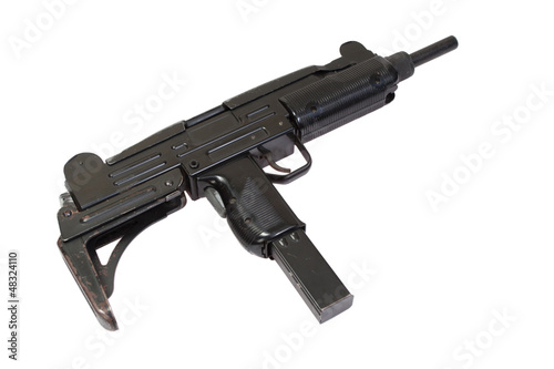 UZI submachine gun isolated on white