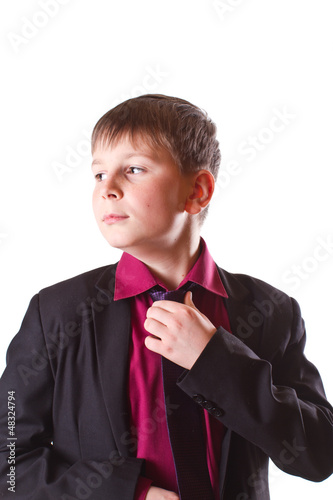 boy in a black jacket