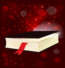 Magic light book vector
