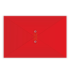 Red envelope rope seal vector