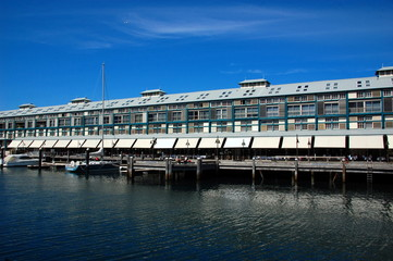 Woolloomooloo bay in Sydney, Australia.