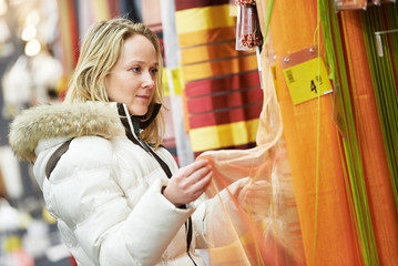 woman shopping at home decoration supermarket
