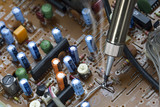 Soldering iron and verification testing of electronic boards poster