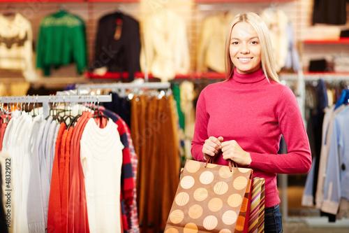 Cheerful customer