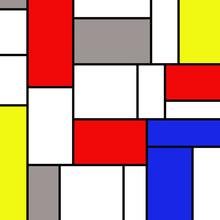 Rectangles colorés dans un style Mondrian