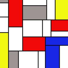 Colorful rectangles in mondrian style © anasztazia