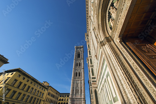 Bell Tower Giotto and Cathedral - Florence Tuscany Italy