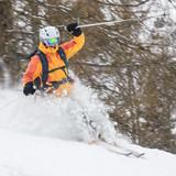 Fototapeta góra - przejazd - Sporty Zimowe