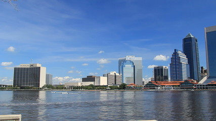 downtown Jacksonville Florida on the St. John's River waterfront