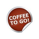 Button Sticker Coffee to go
