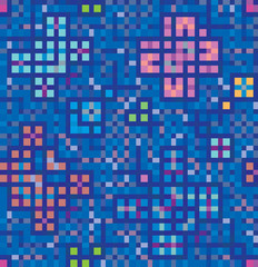 Blue decoration of squares and rectangles