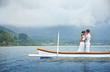 Journey by boat, bali, wedding