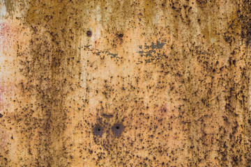 Wide abstract old brown rusty grunge texture