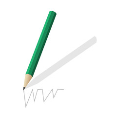 The pencil green.