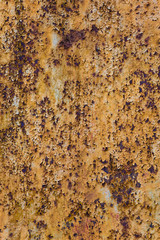 Tall version of heavily rusty grungy brown texture