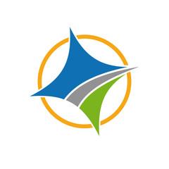 Vector logo compass