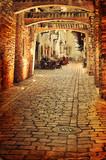 Old photo of european street - 48333166