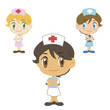 nurse ,cartoon character, vector illustration