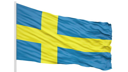 Looping of the Sweden flag