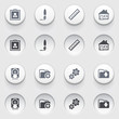 Document icons on white buttons. Set 2.