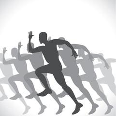 running men stock vector