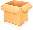 Vector yellow empty paper box, template for your design