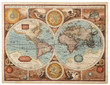 canvas print picture - Old map (1626)