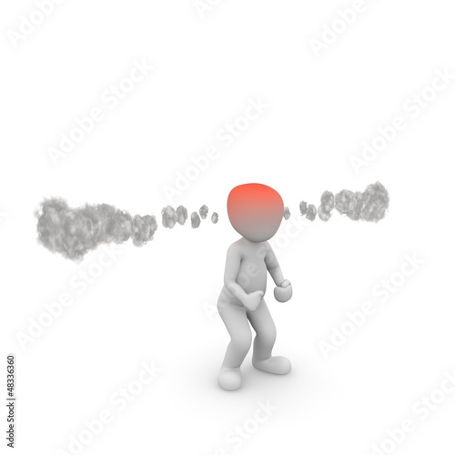 wütend Dampf roter Kopf