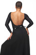 African American Beauty with Backless Dress