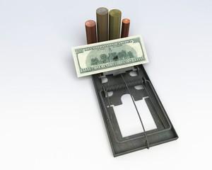 Trappola banca, soldi borsa, prestito, tasse