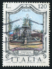 Palm fountain in Palmi