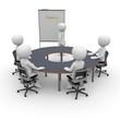 Meeting am runden Tisch