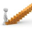 Karriere Treppe aufsteigen