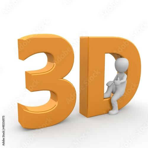 3D Figur sitzend