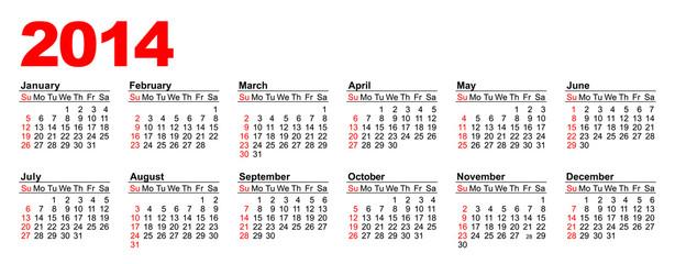 American Calendar 2014