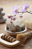 exfoliation and massage accessories poster