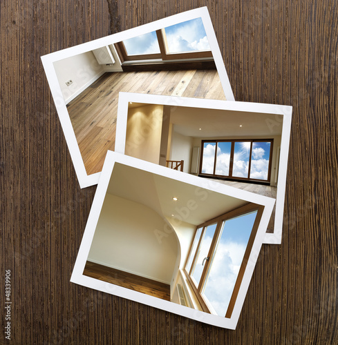 Polaroid-Wooden Floor and windows Boards