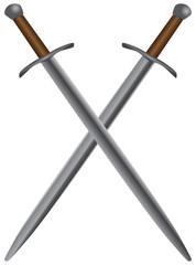 Set of medieval swords